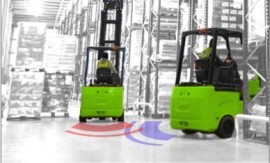 Low Speed Area Forklift Speed Zoning In The Warehouse