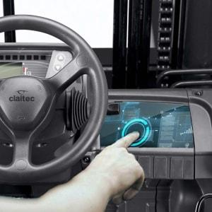 Reconocimiento biométrico del conductor de la carretilla